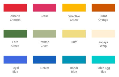 cool color names basic colors names images