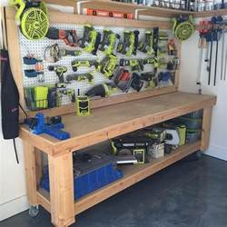 1000 ideas about garage workbench plans on pinterest garage workbench garage organization