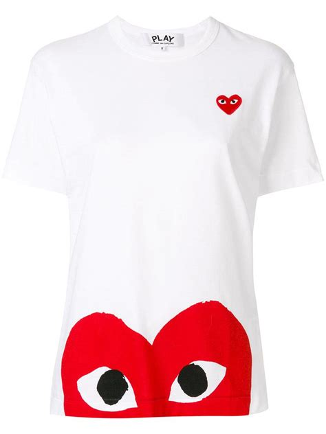 Comme Des Garcons Cdg Play White In Iphone Dan Semua Hp lyst play comme des gar 231 ons logo t shirt in white