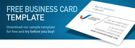 free sle business cards templates free business card templates card designs