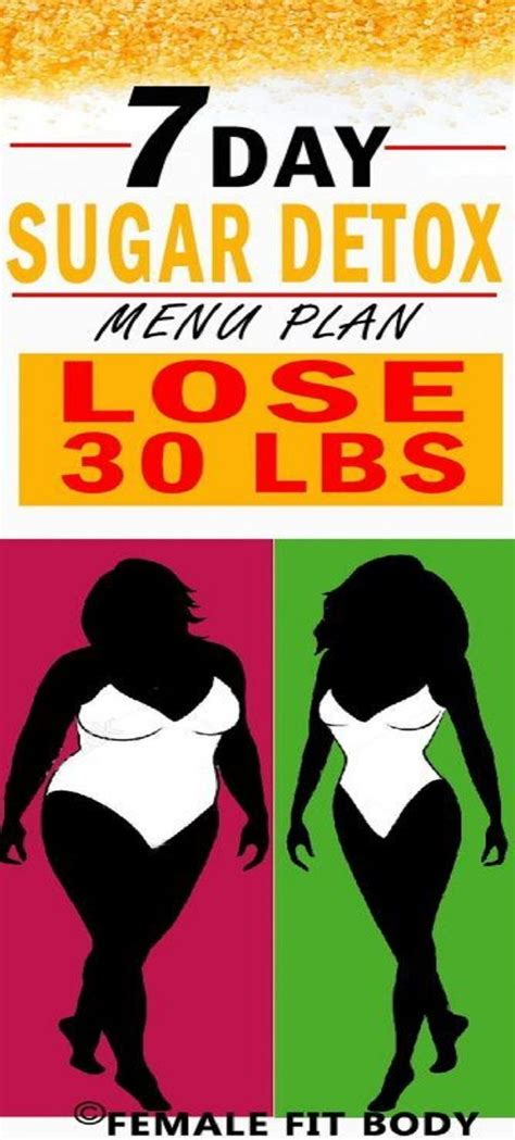 7 Day Junk Food Detox by 7 Day Sugar Detox Menu Plan And Lose 30 Lbs Quot Fashion