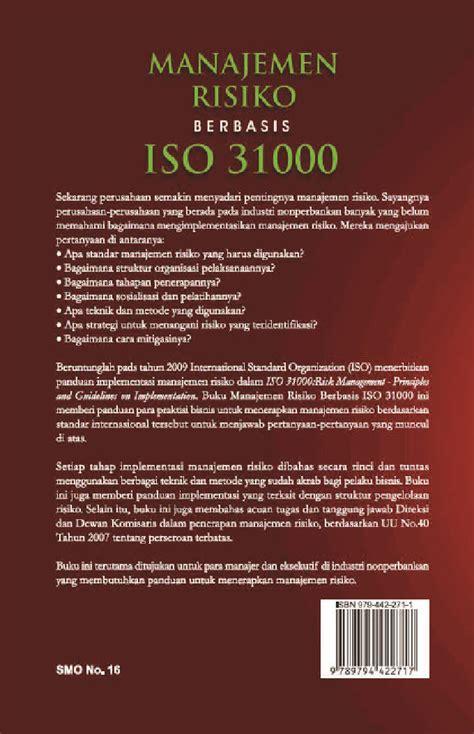 Manajemen Risiko Berbasis Iso 31000 jual buku manajemen risiko berbasis iso 31000 oleh victor