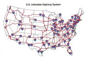 Highway Road Map Of United States by U S Interstate Highway Map See The Usa In A Different
