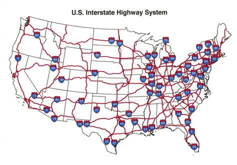 map of us states with interstates u s interstate highway map see the usa in a different