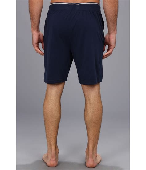 comfortable shorts for men original penguin blue comfortable soft knit sleep shorts