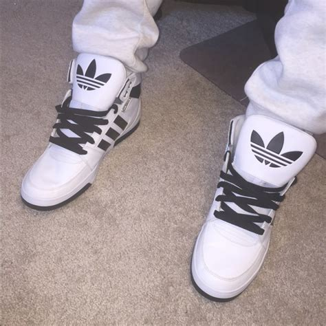 60 adidas other high top adidas black and white