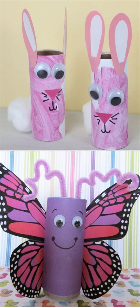 Toliet Paper Crafts - toilet paper roll crafts for paper crafts ideas for