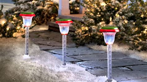 shooting star christmas walkway lights youtube