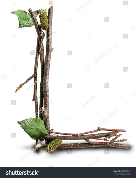 twig l photograph natural twig stick letter l stock photo