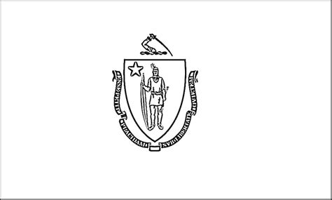 Massachusetts State Flag Coloring Page massachusetts flag coloring page purple