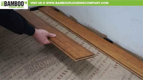 How To Install Bamboo Flooring how to install uniclic bamboo flooring underlay