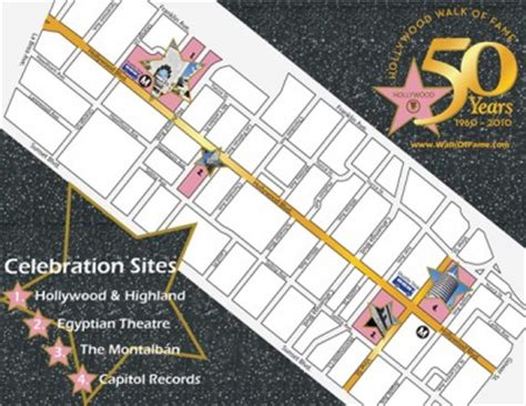 walk of fame map ca festival celebrates the 50th anniversary of the walk of fame the