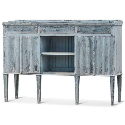 Blue Sideboard Buffet peitro country weathered antique blue wood sideboard buffet kathy kuo home