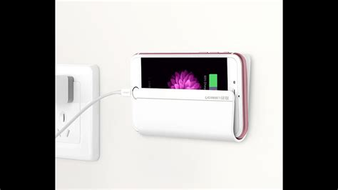 ugreen adhesive wall mount cell phone charging holder
