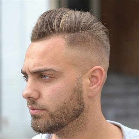 60s 70s High Fade Pomp Mens Haircut | high fade pompadour with beard www pixshark com images