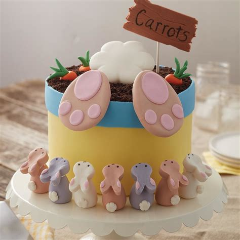 Easter Cakes by Bunny Easter Cake And Bunny Treats Wilton