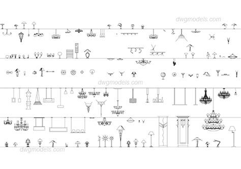 Floor Plan Symbols by Lamps Dwg Free Cad Blocks Download