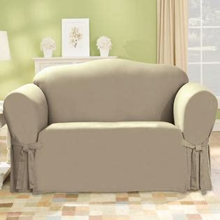 sure fit canvas duckcloth linen sofa slipcover home