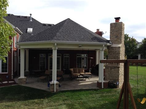 outside porch chesterfield mo covered patio makeover poynter landscape