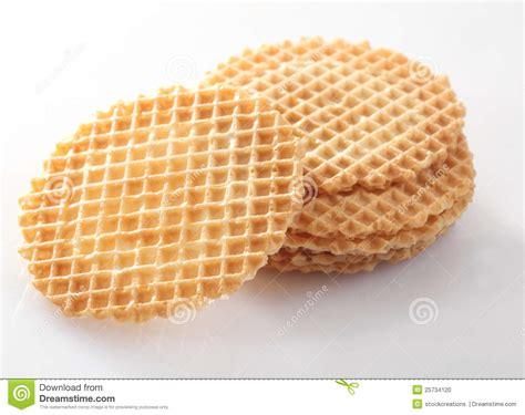 como decorar waffles biscoitos da bolacha do waffle para decorar foto de stock