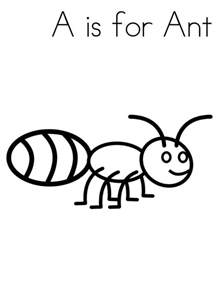 a coloring page a is for ant coloring page coloring sky
