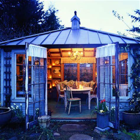 turn  shed   summer living room  backyard den