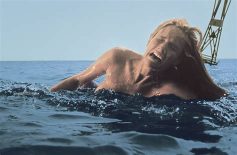 jaws head in boat the movie waffler