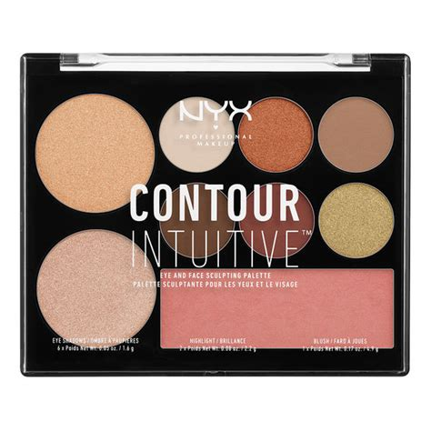 Nyx Make Up Palette Eye Shadow Lipstick Blush On Foundation Palet contour intuitive palette nyx professional makeup