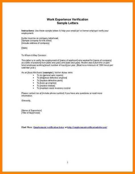Letter For Work Certificate 6 Experience Letter Sle From Employer Resumed