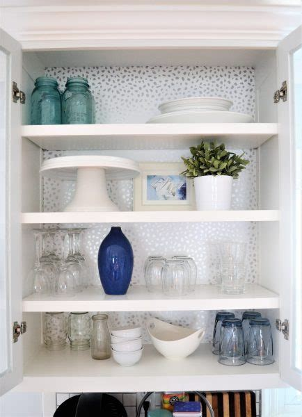 add wallpaper  kitchen cabinets diyideacentercom