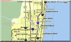 map of florida showing boca raton about boca raton palm county south florida usa