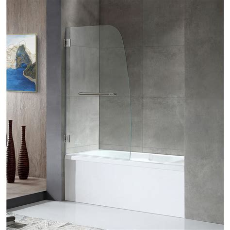 pivot bathtub doors dreamline aqua uno 34 in x 58 in frameless pivot tub