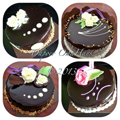dapoer omahans cake  ganache coklat terima pesan
