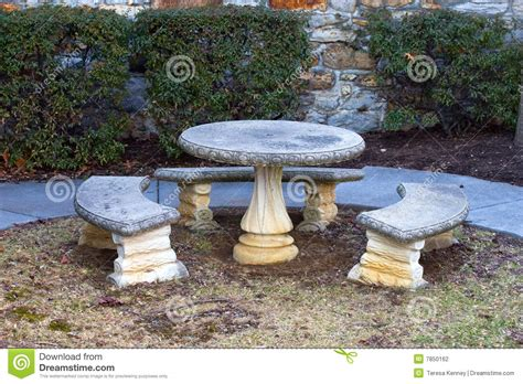 stone bench and table stone table and benches stock photo image of outdoor