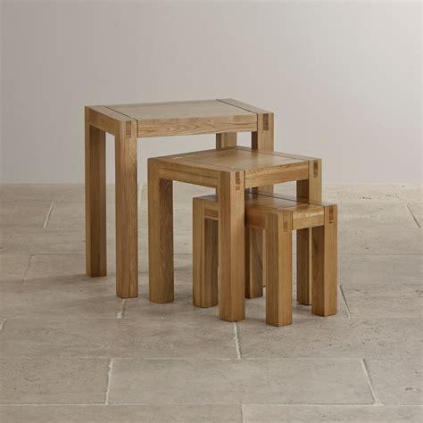oak nest of tables alto solid oak nest of tables living room furniture