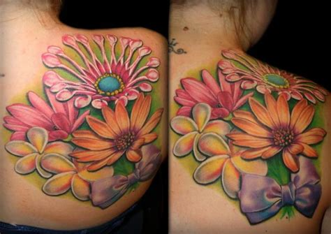sw tattoo designs shoulder flower by sw