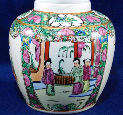 porcelain canton export famille jar no