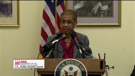 Dc Mayor S Office by Mayor Bowser Joins Congresswoman Norton To Defend