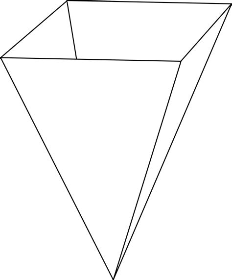what shape is upstide down triangel inverted rectangular pyramid clipart etc