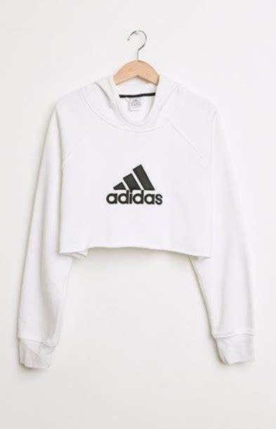 Sweater Jaket Hoodie White sweater hoodie cropped hoodie adidas white hoodie
