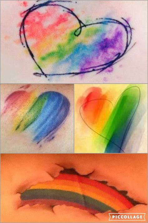 rainbow watercolor tattoo rainbow tattoos ile ilgili teki en iyi 25 den