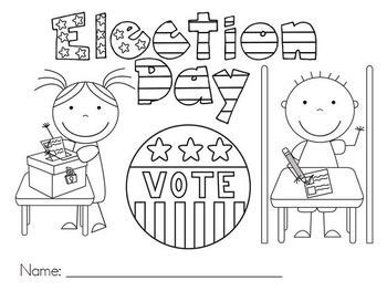 Election Day Coloring Pages Preschool | 14 coloring pictures election day print color craft