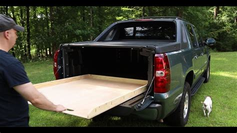build your own truck bed slide out the simplest diy truck bed slide for chevy avalanche youtube