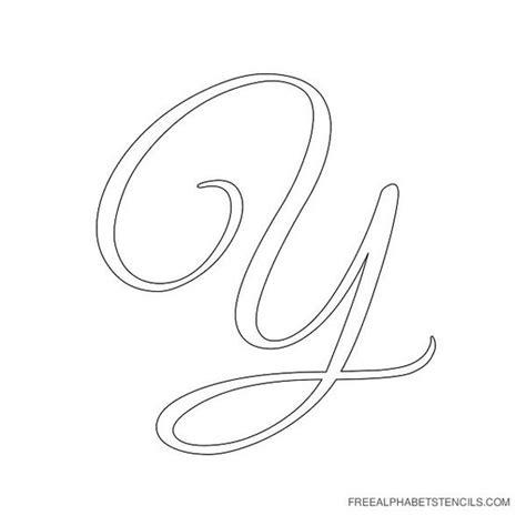 printable big cursive letters alphabet stencils cursive and stencils on pinterest