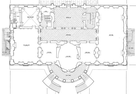 floor plan of white house the white house floor plan cottage house plans