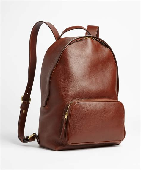 S Leather Backpack Brown lotuff leather chestnut leather backpack in brown for