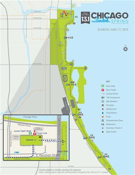 map of chicago lakefront lakefront trail chicago map