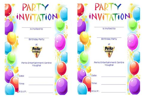 party and birthday invitation birthday party invitation template