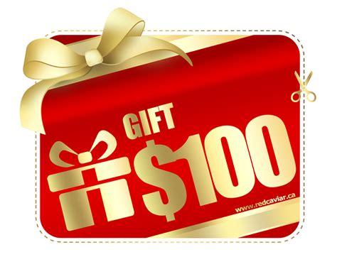 Caviar Gift Card - 100 gift certificate red caviar