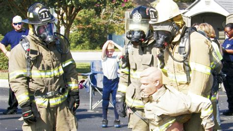competition heats up firefighters compete at safety
